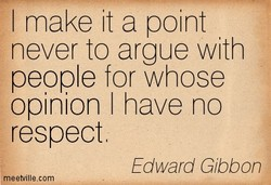 I make it a point 