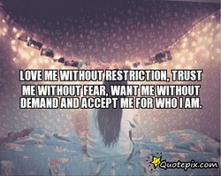 LOVE ME WITHOUT RESTRICTION TRUST