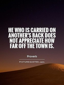 HE WHO IS CARRIED 