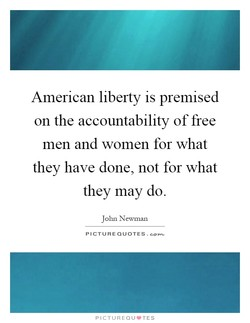 American liberty is premised 