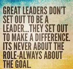 GREAT LEADERS DON'T 