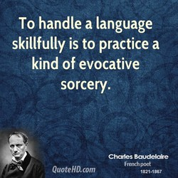 To handle a language 