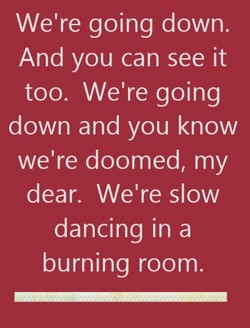 We're going down. 