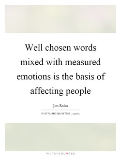 Well chosen words