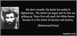 We don't consider the battle has ended in 