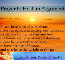 Prayer to Heal an Argument 