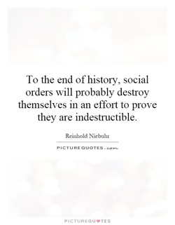 To the end of history, social 