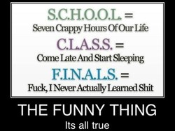 S.C.H.O.O.L = 