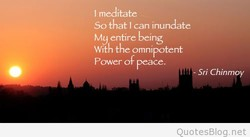 I meditate 