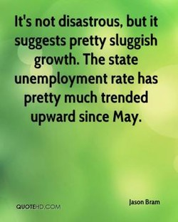 It's not disastrous, but it 