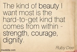The kind of beauty I 