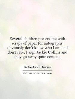 Several children present me with 
