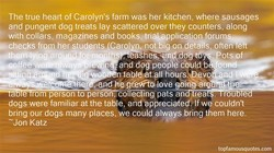 The true heart of Carolyn's farm was her kitchen, where sausages 