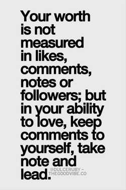 Your worth 