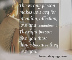 The wrong person 