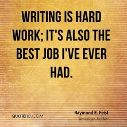 WRITING IS HARD 