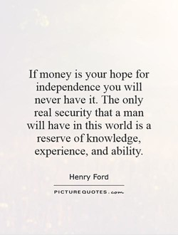 If money is your hope for 