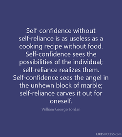 Self-confidence without 