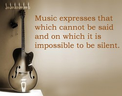 Music expresses that 