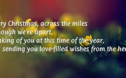 ry Chtistfias, acrgss the miles 