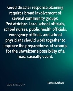 Good disaster response planning 