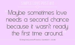 Maybe sometimes love 