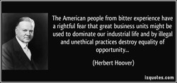 The American people from bitter experience have 