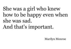 She was a girl who knew 
