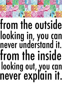 from the outside 