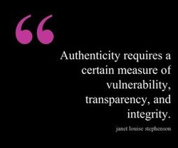 Authenticity requires a 