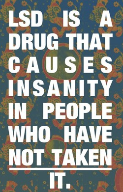 LSD IS A 