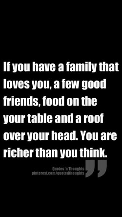 If you have a family that 