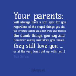 Your parents: 