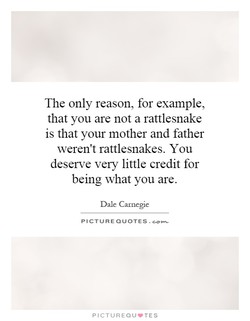 The only reason, for example, 