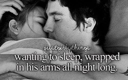 wanting to sleep, wrapoed 