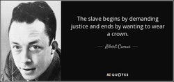 The slave begins by demanding 