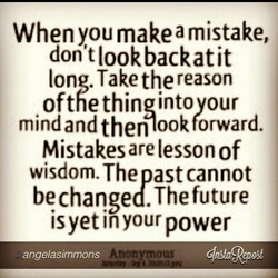 When you make a mistake, 