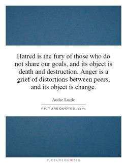 Hatred is the fury of those who do 