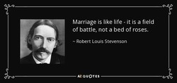 Marriage is like life - it is a field 