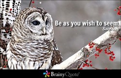 Be as you wish to seem' 