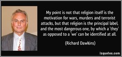 My point is not that religion itself is the 