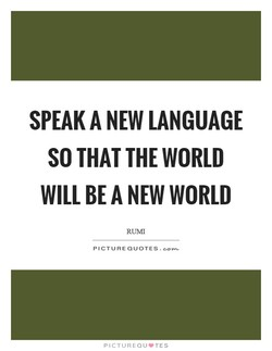 SPEAK A NEW LANGUAGE 