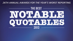 26TH ANNUAL AWARDS FOR THE YEAR'S WORST REPORTING 