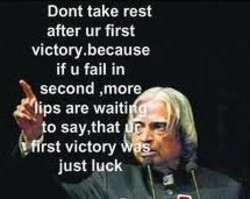 Dont take rest 