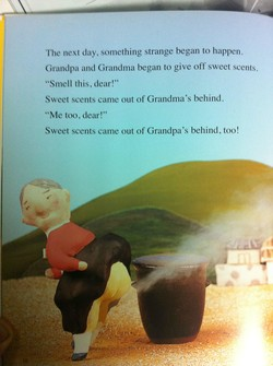 The next clay, something strange began to happen. 