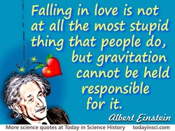 Falling in love is not 