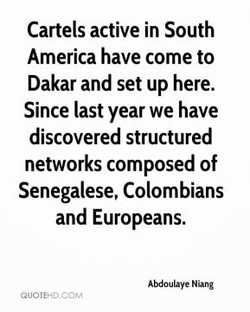 Cartels active in South 