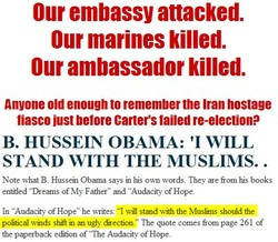 Our embassy attacked. 