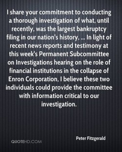 I share your commitment to conducting 