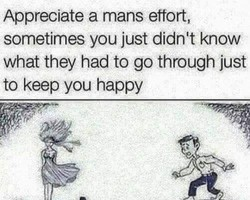 Appreciate a mans effort, 